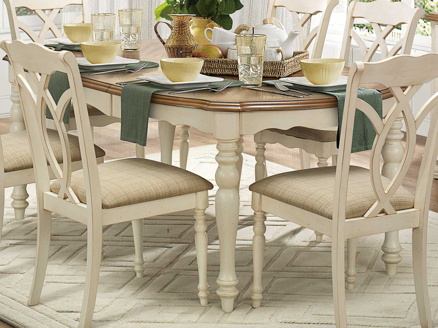 Homelegance Azalea Dining Table Antique White