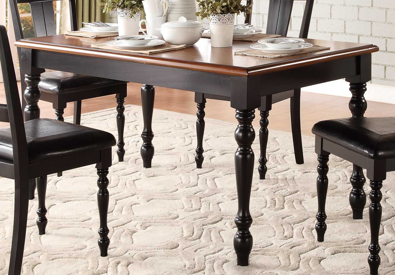 Homelegance Laurel Grove Dining Table - Black/Cherry