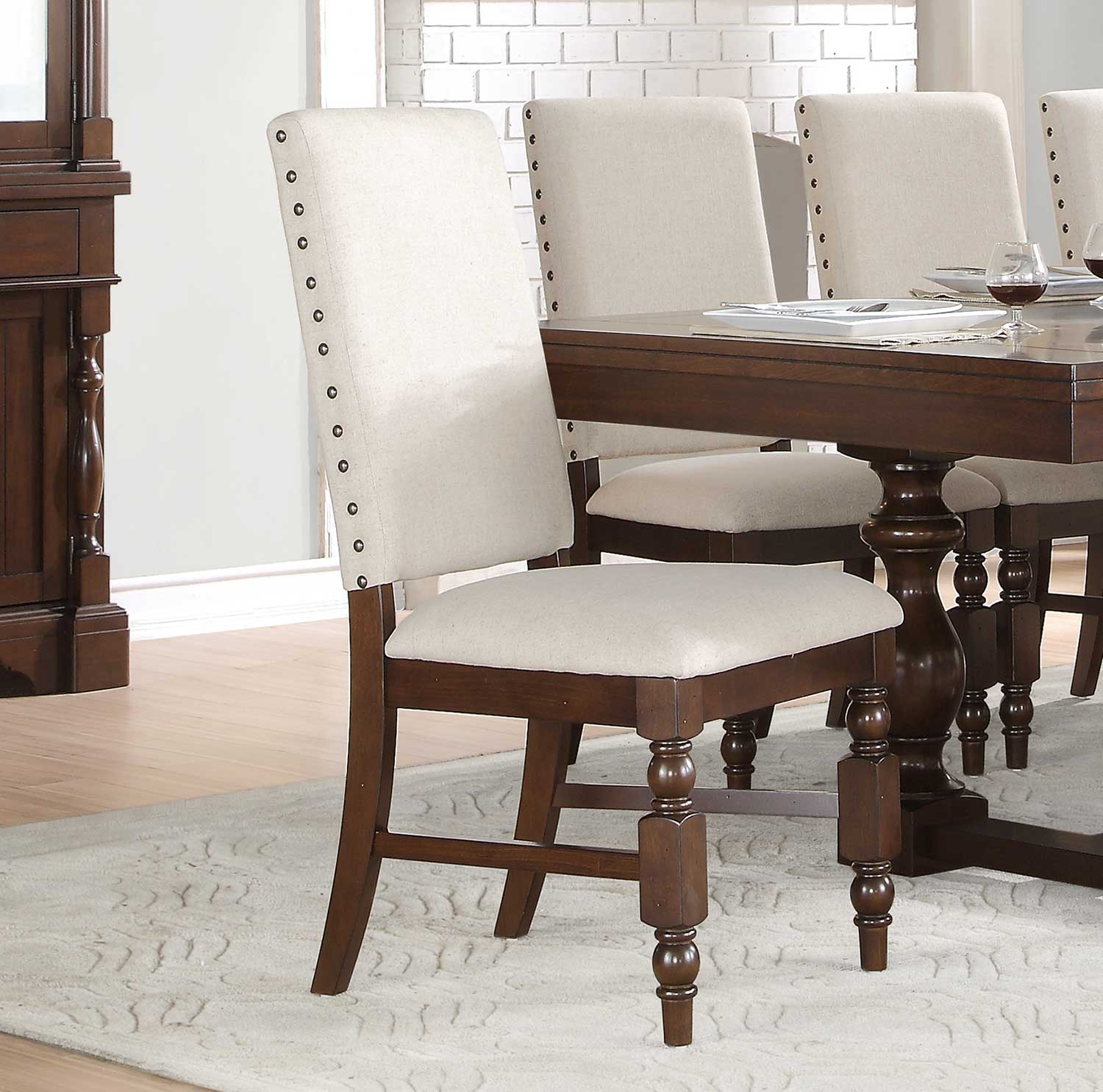 Homelegance Yates Side Chair - Dark Oak