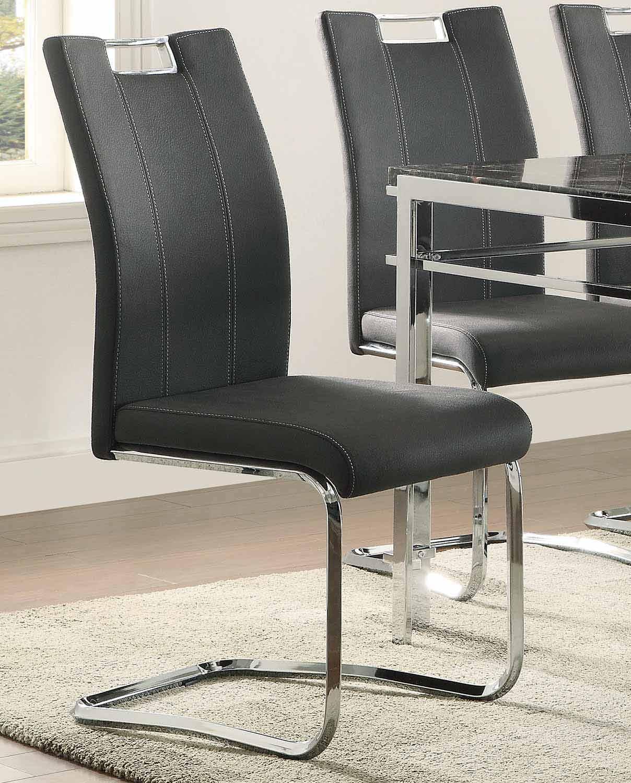 Homelegance Watt Side Chair - Metal/Dark Grey Upholstery
