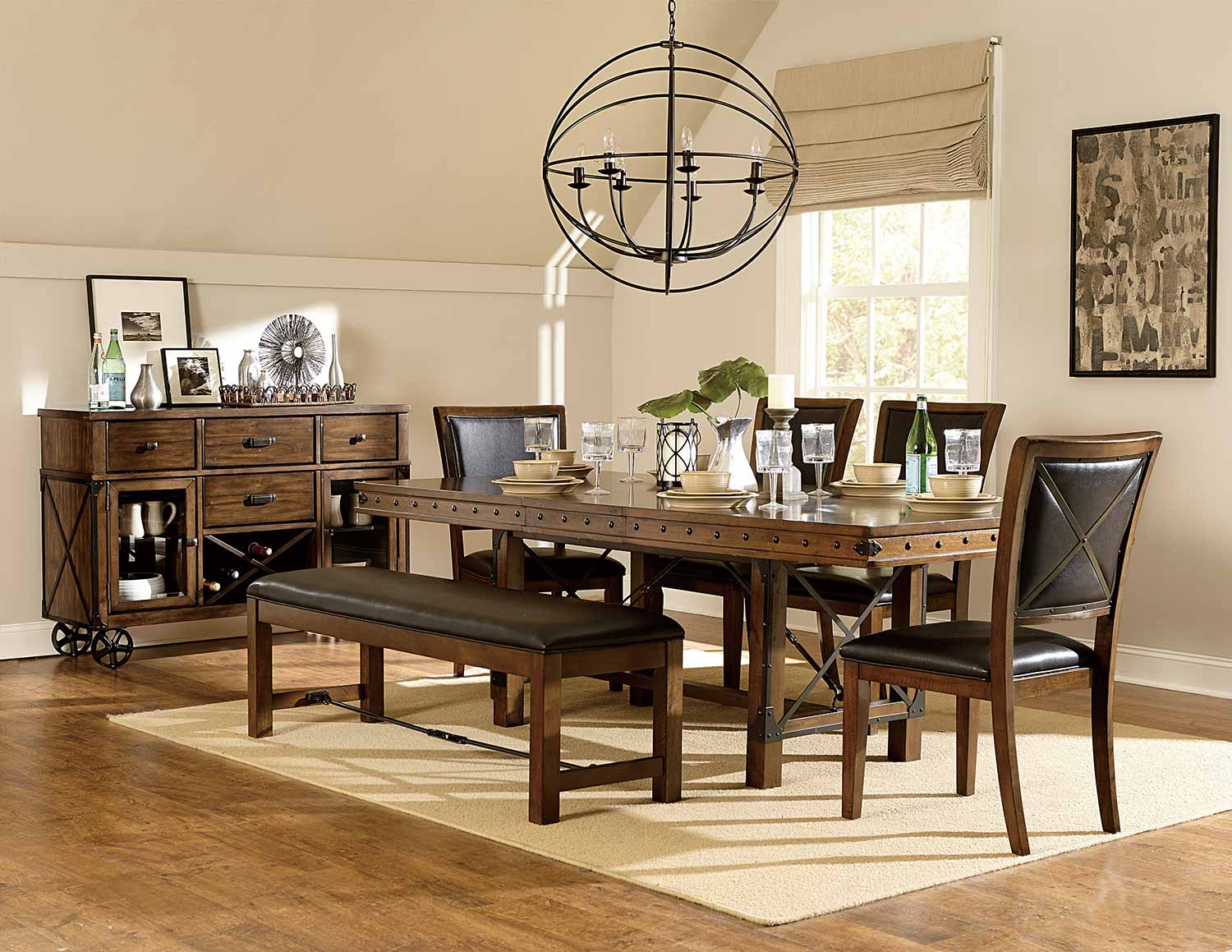 Homelegance Urbana Trestle Dining Set