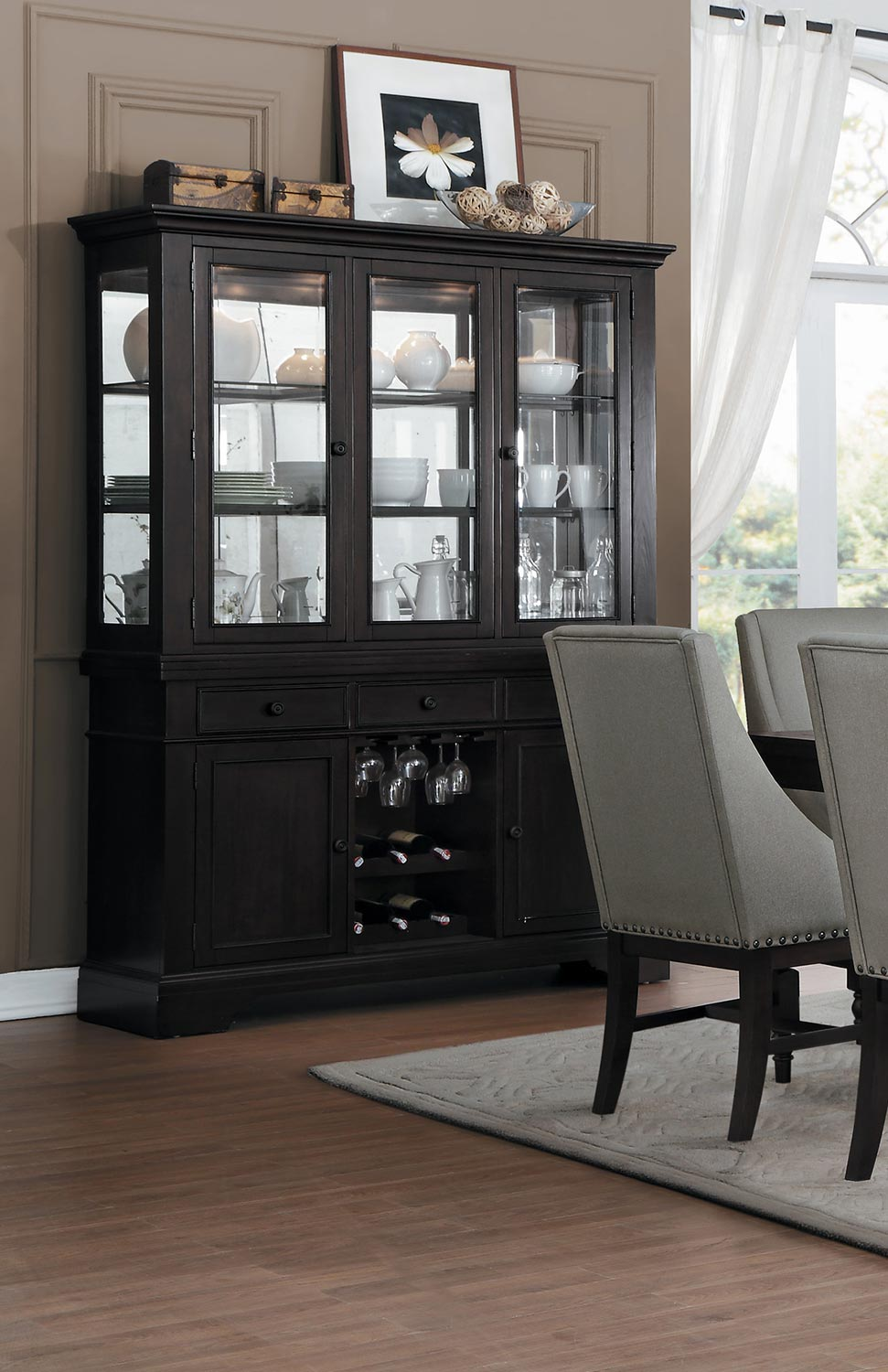 Homelegance Reid China Cabinet - Cherry