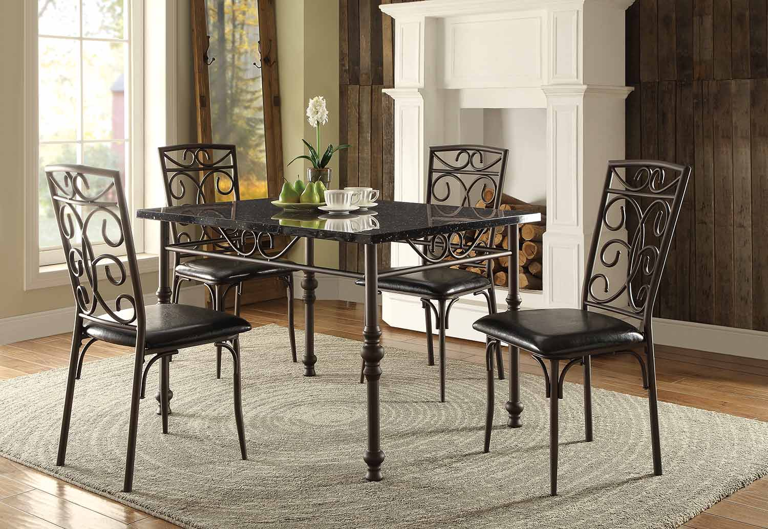 Homelegance Dryden Dining Set  Metal 5268DiningSet  HomeleganceFurnitureOnline.com