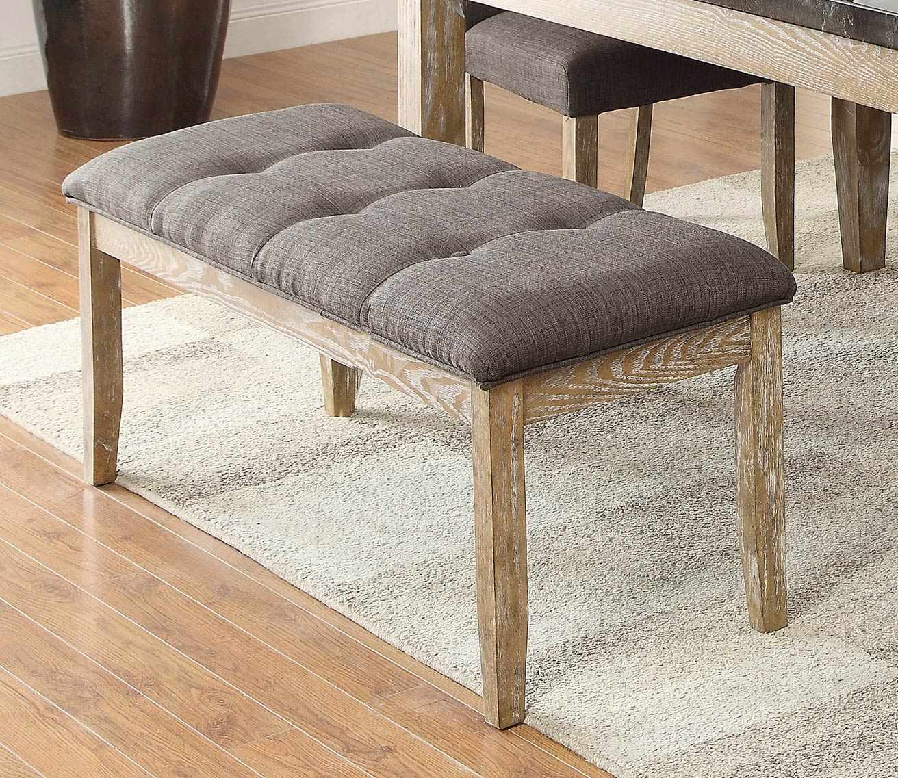 Homelegance Huron 49-inch Bench - Weathered Wood