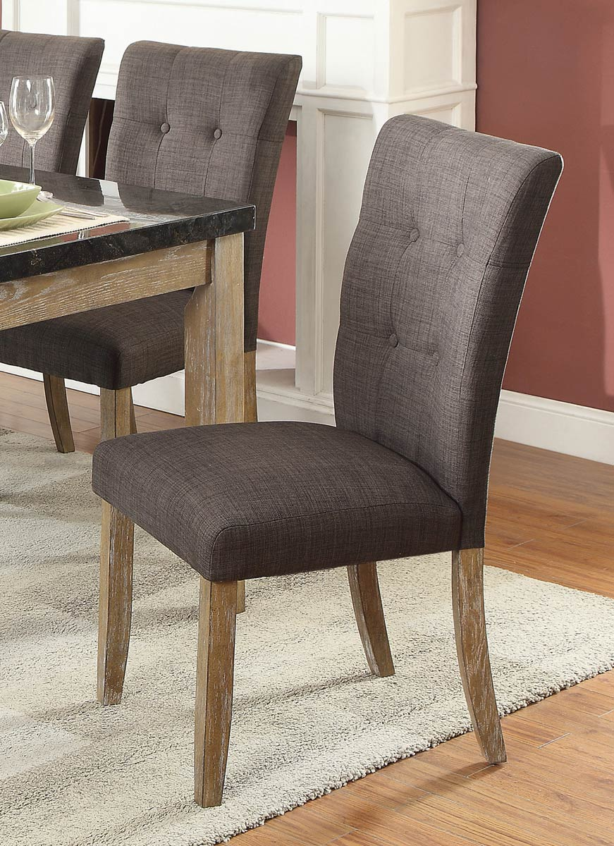 Homelegance Huron Side Chair - Weathered Wood