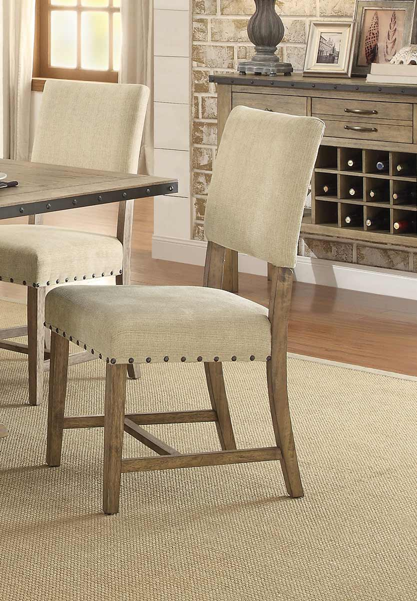 Homelegance Veltry Side Chair - Weathered Finish