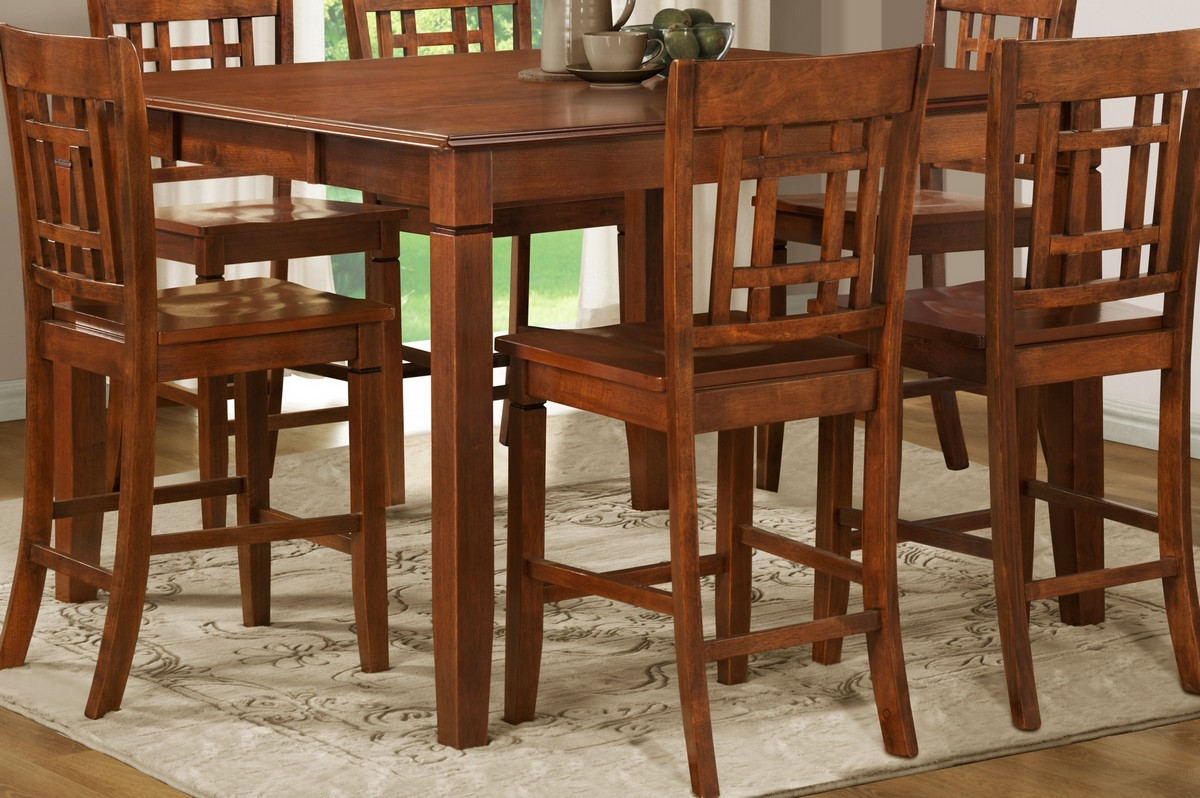 Homelegance Gresham Counter Height Table in Nyota Pattern