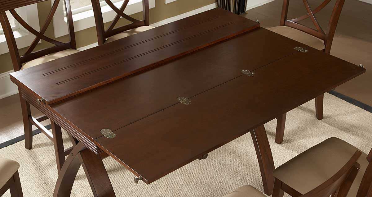 Beautiful Homelegance Sunbelt Counter Height Table With Flip Top Leaf