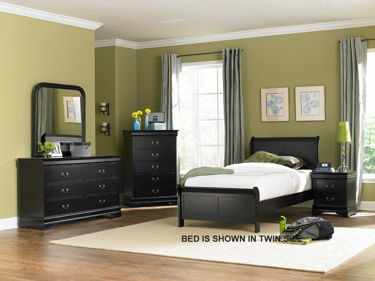 Bedroom Sets Black homelegance marianne bedroom set - black b539bk