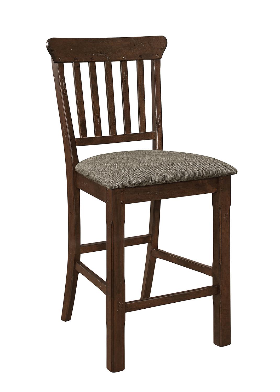 Homelegance Schleiger Counter Height Chair - Dark Brown