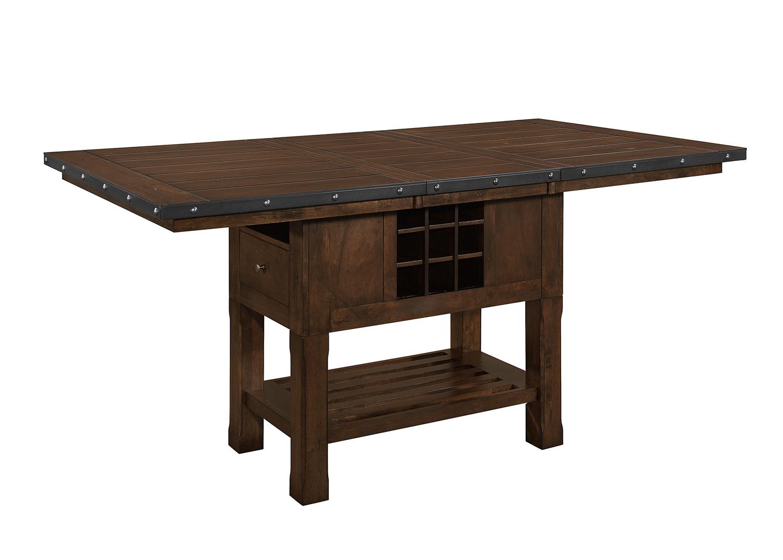 Homelegance Schleiger Counter Height DiningTable - Dark Brown