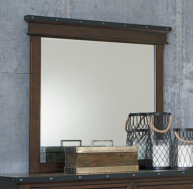 Homelegance Schleiger Mirror - Burnished Brown