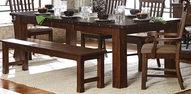 Homelegance Schleiger Dining Table - Burnished Brown