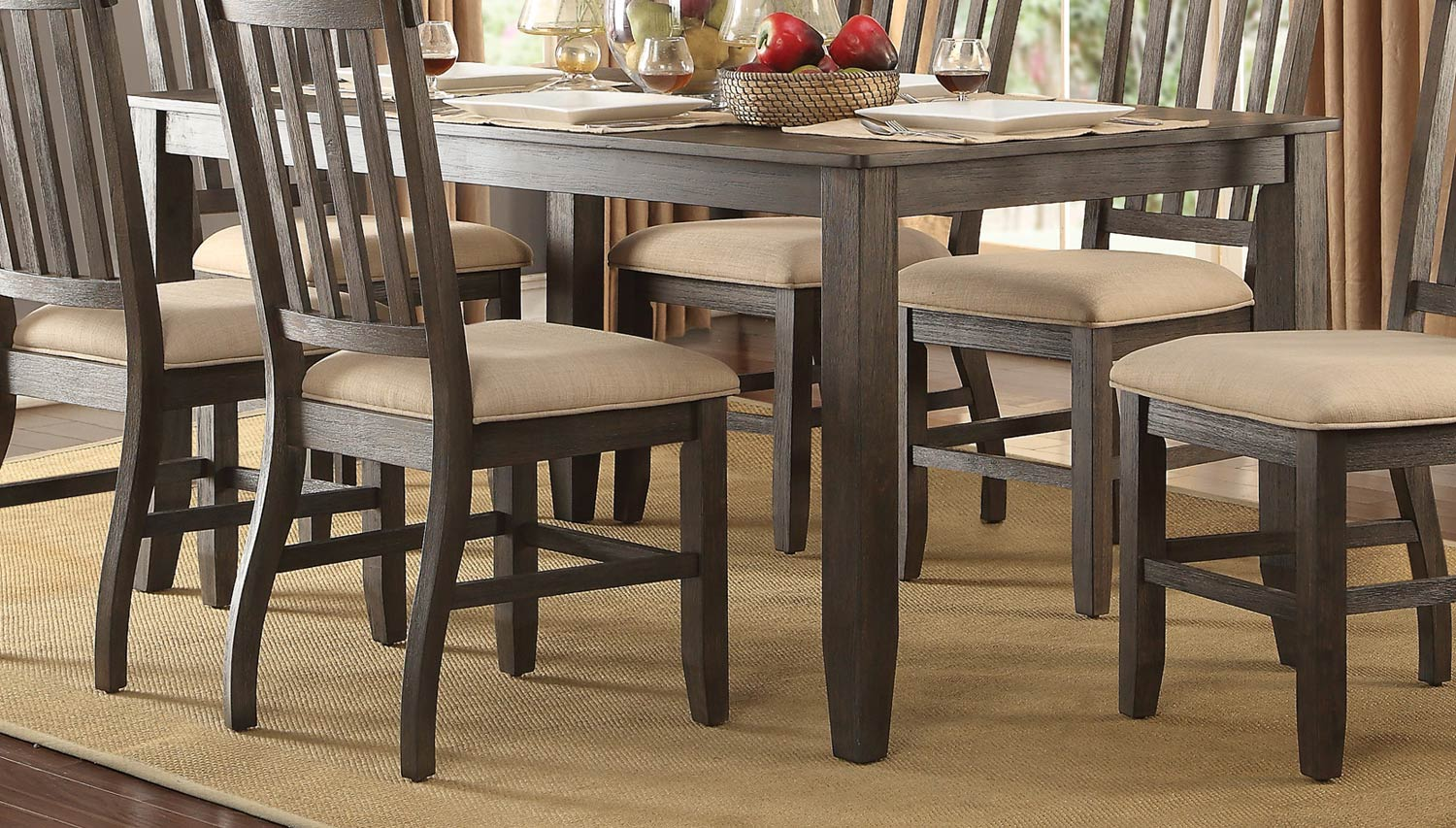 Homelegance Nantes Dining Table - Wire Brushed