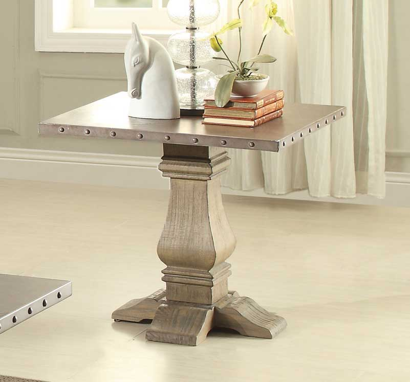 Homelegance Anna Claire End Table - Driftwood