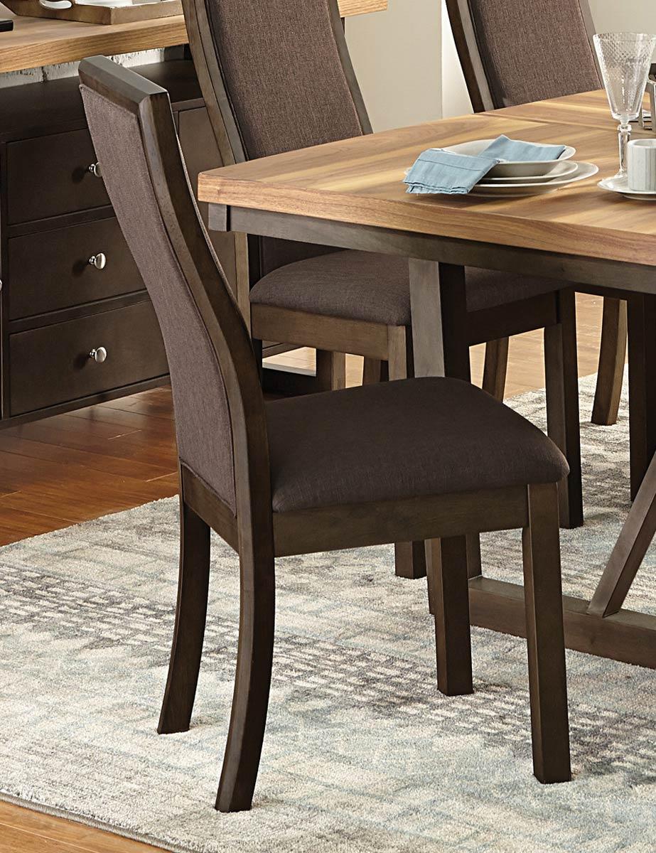 Homelegance Compson Side Chair - Walnut/Chocolate