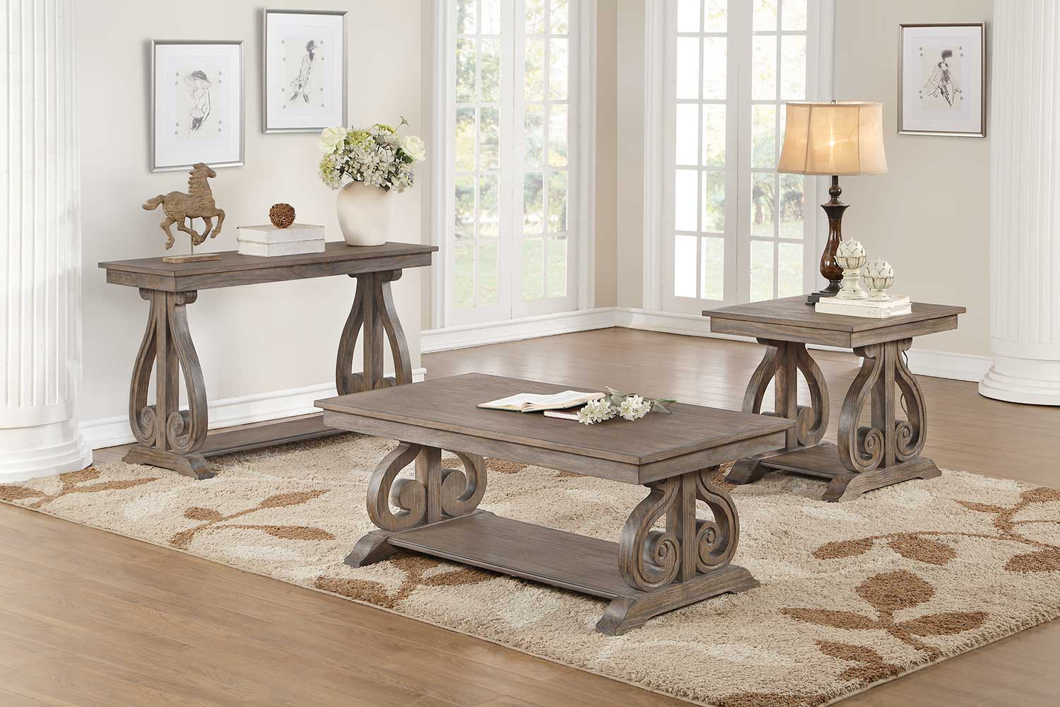 Homelegance Toulon Coffee/Cocktail Table Set
