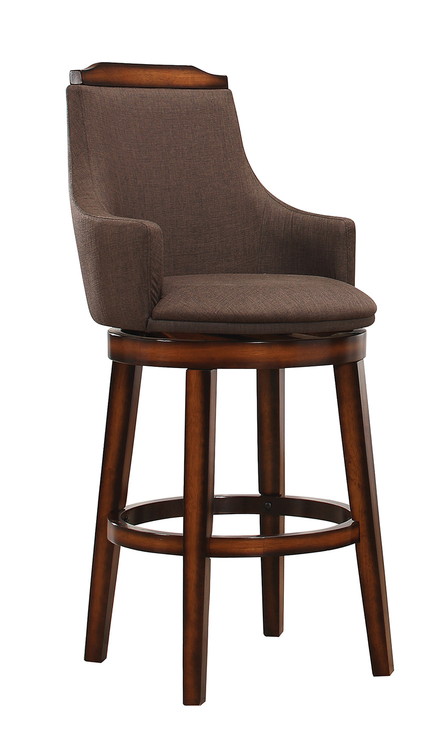 Homelegance Bayshore Swivel Counter Height Chair - Chocolate/Linen