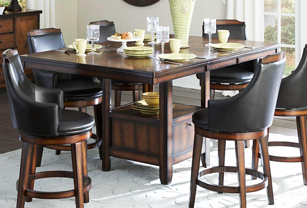 Homelegance Bayshore Counter Height Table - Medium Walnut