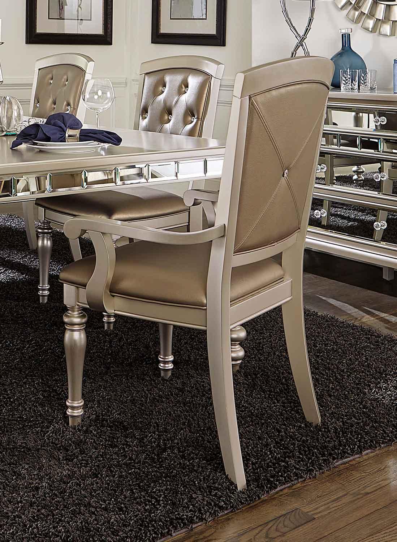 Homelegance Orsina Arm Chair - Silver