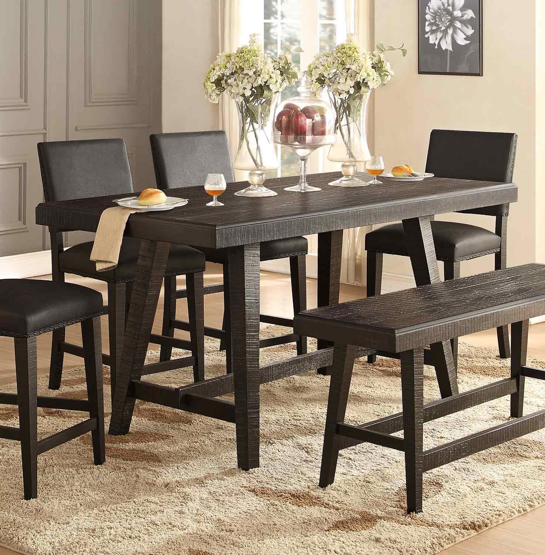 Homelegance Fenwick Counter Height Table - Dark Gray
