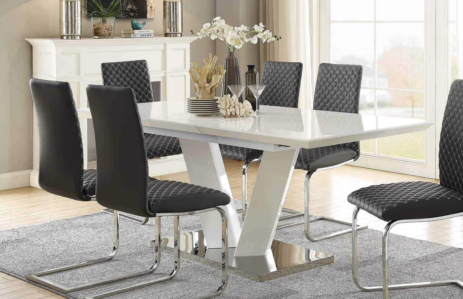 Homelegance Yannis Rectangular Dining Table with Butterfly Leaf