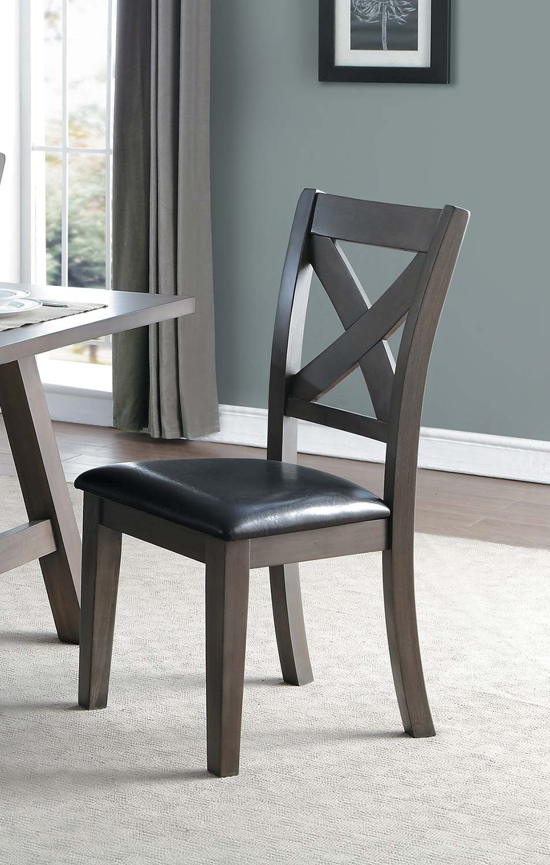 Homelegance Seaford X-Back Side Chair - Gray tone