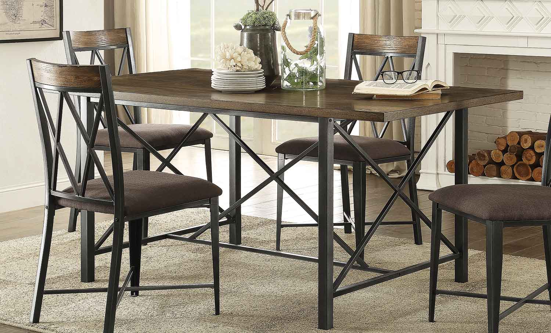 Homelegance Sage Rectangular Dining Table - Burnish Finish