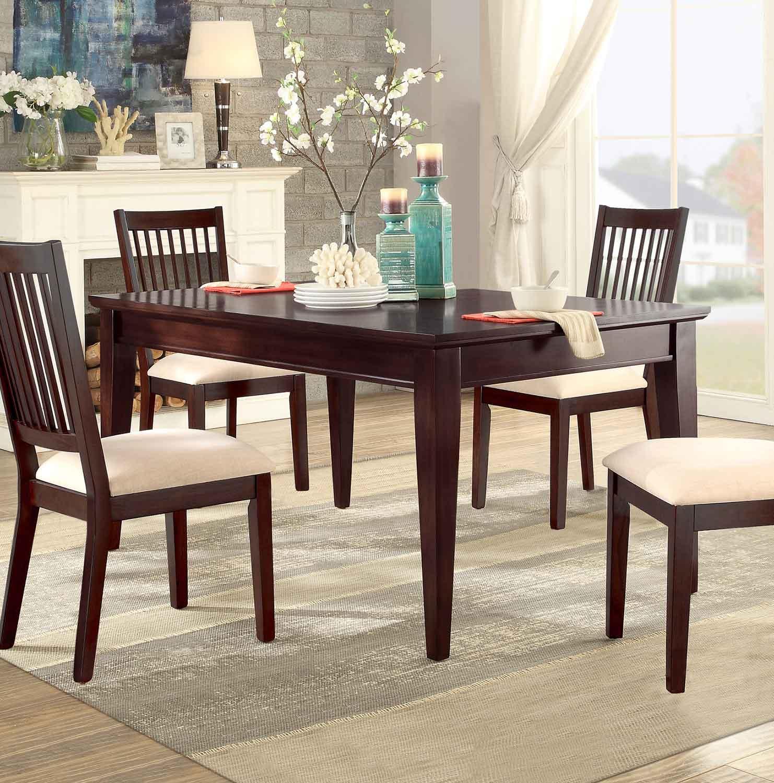 Homelegance Timber Forge Rectangular Dining Table - Cherry