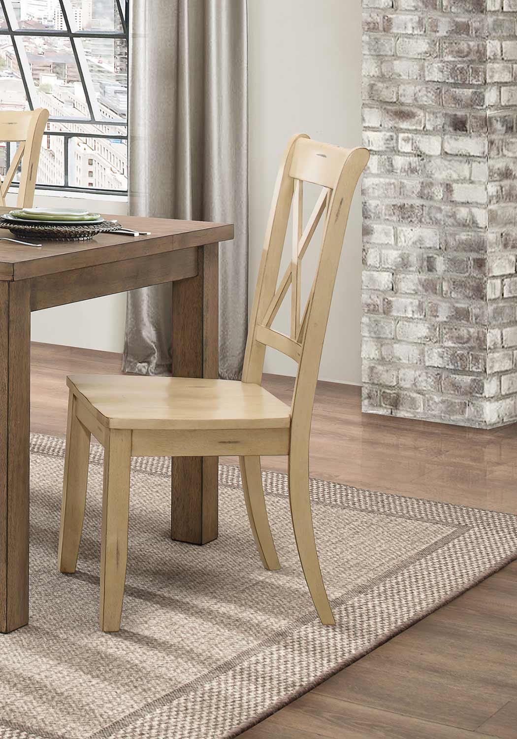 Homelegance Janina Side Chair - Buttermilk