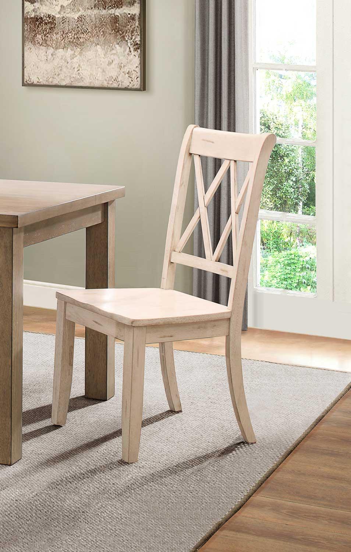 Homelegance Janina Side Chair - White
