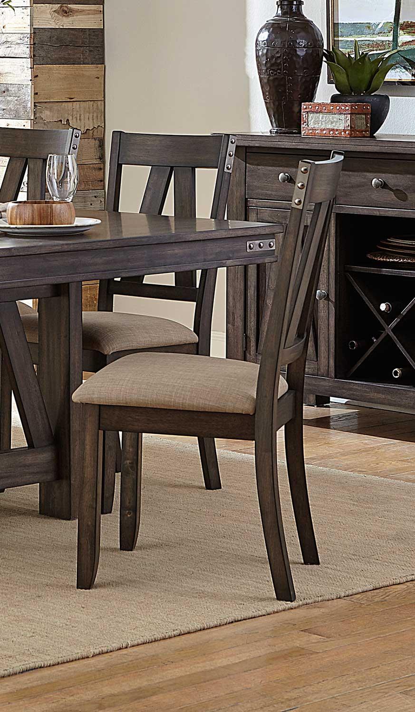 Homelegance Mattawa Side Chair - Brown/Hints of Gray Undertone