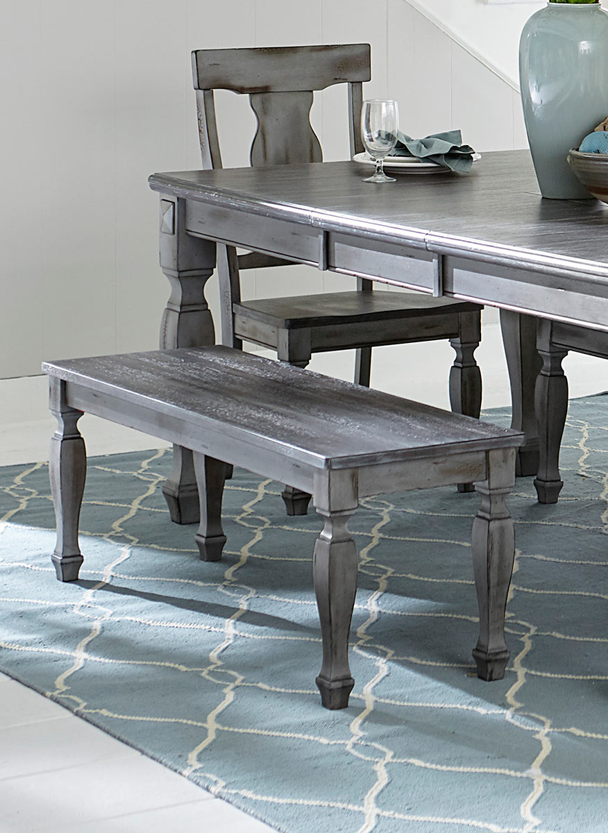 Homelegance Fulbright 48-inch Bench - Weathered Gray Rub Through Finish