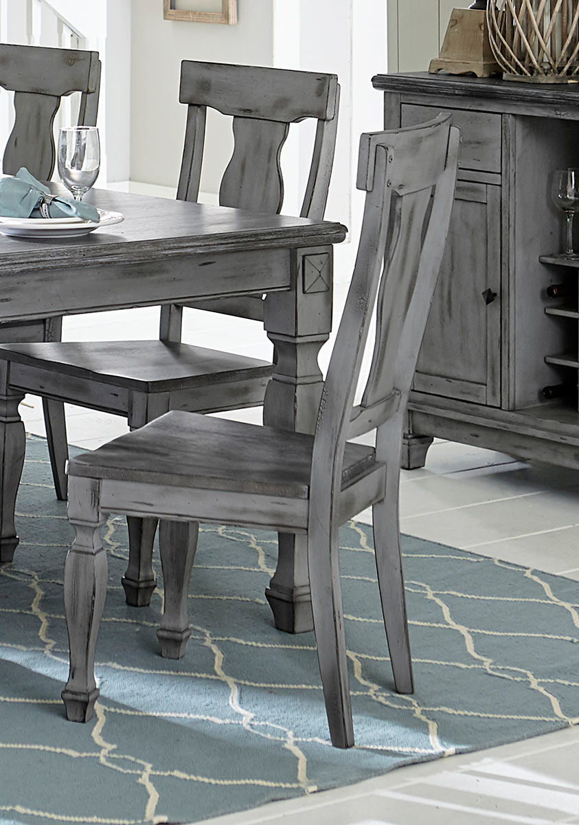 Homelegance Fulbright Side Chair - Weathered Gray Rub Through Finish