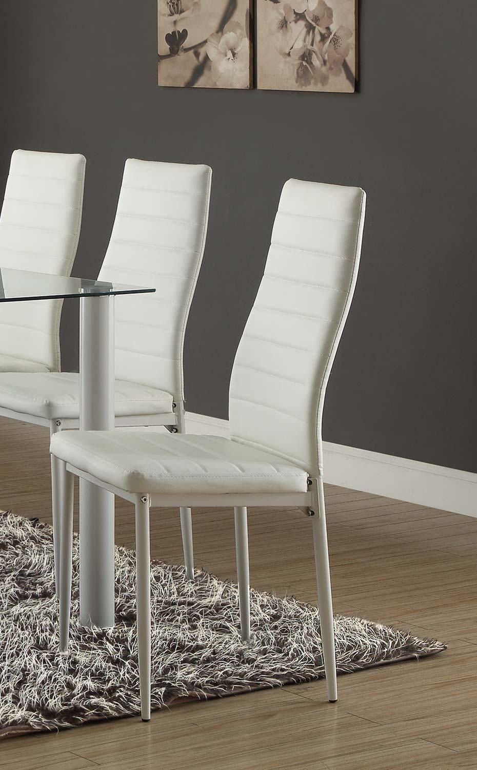 Homelegance Florian Side Chair - White
