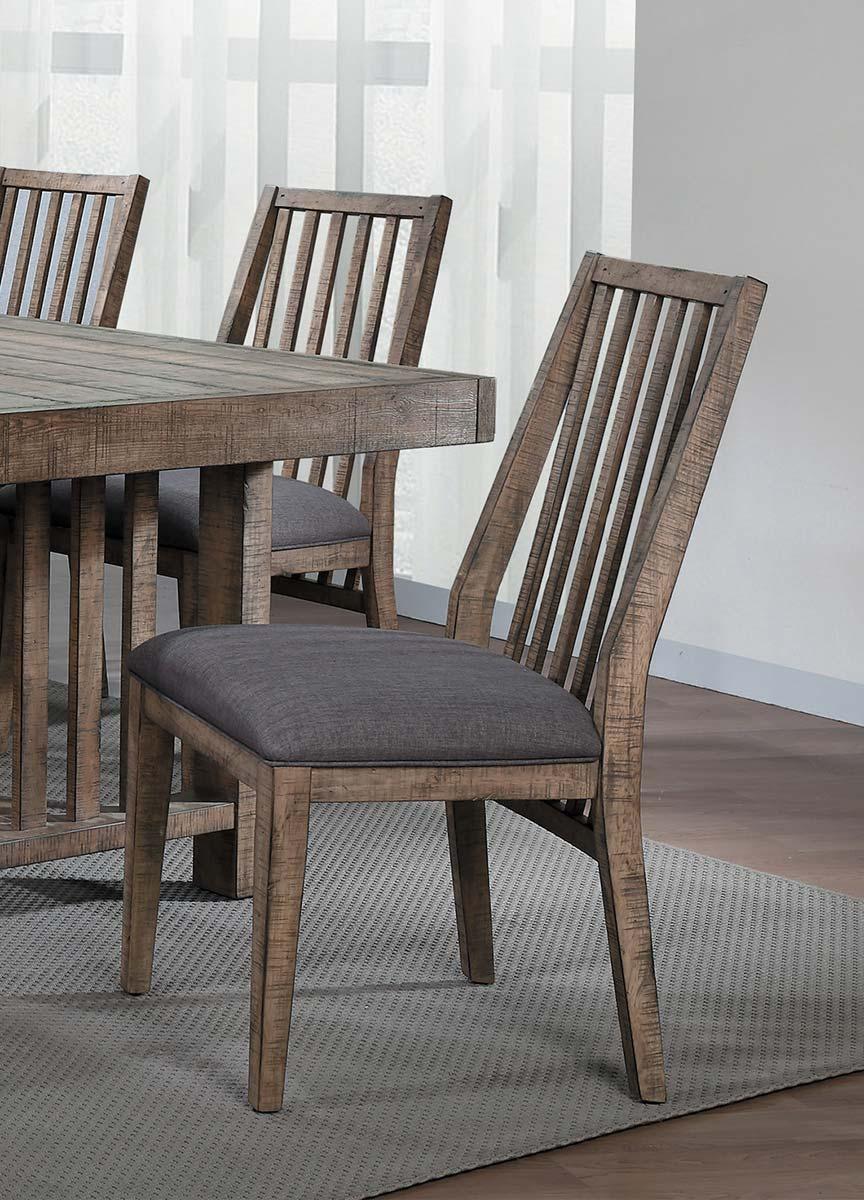 Homelegance Codie Side Chair - Brown Burnishing/Gray Undertones