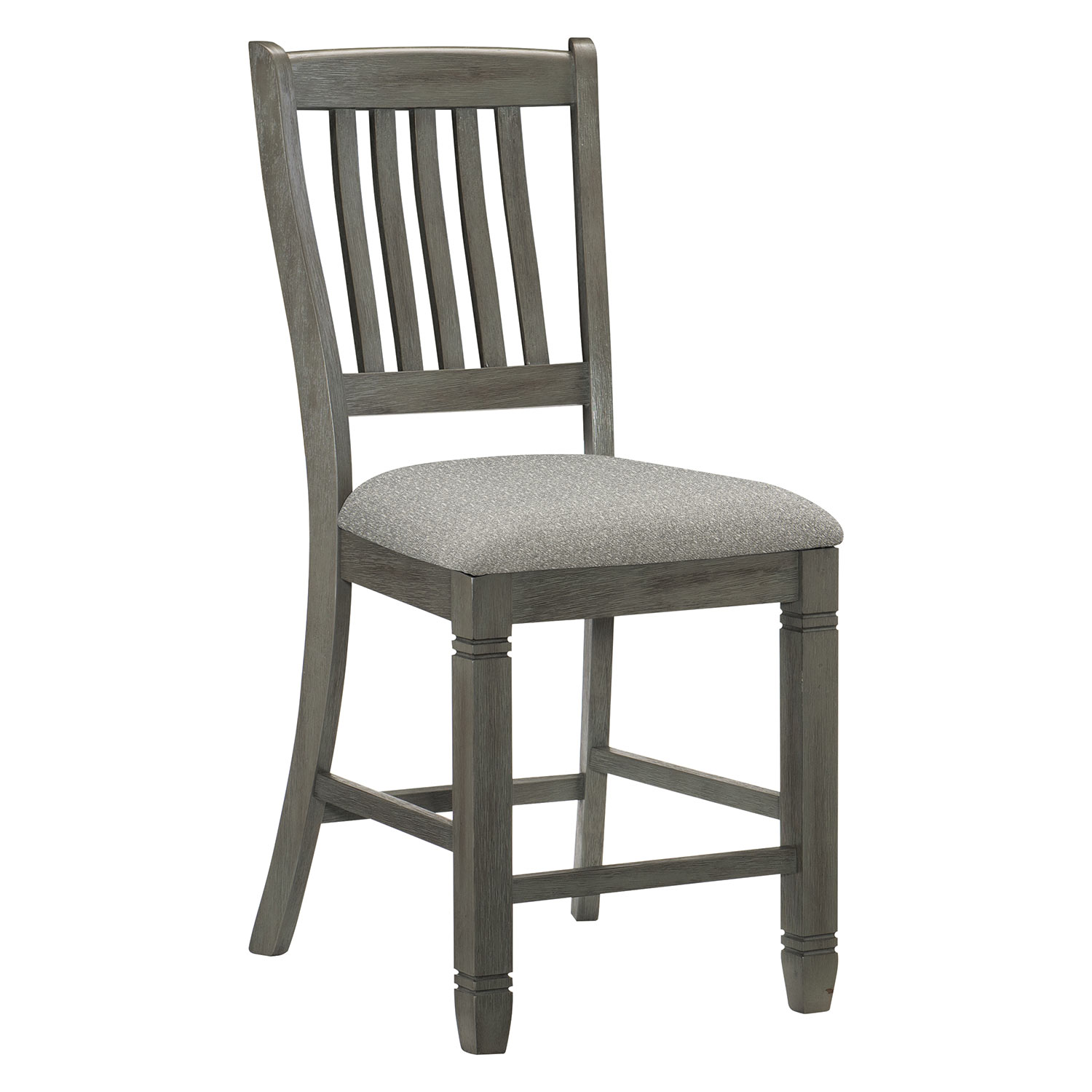 Homelegance Granby Counter Height Chair - Antique Gray and Coffee