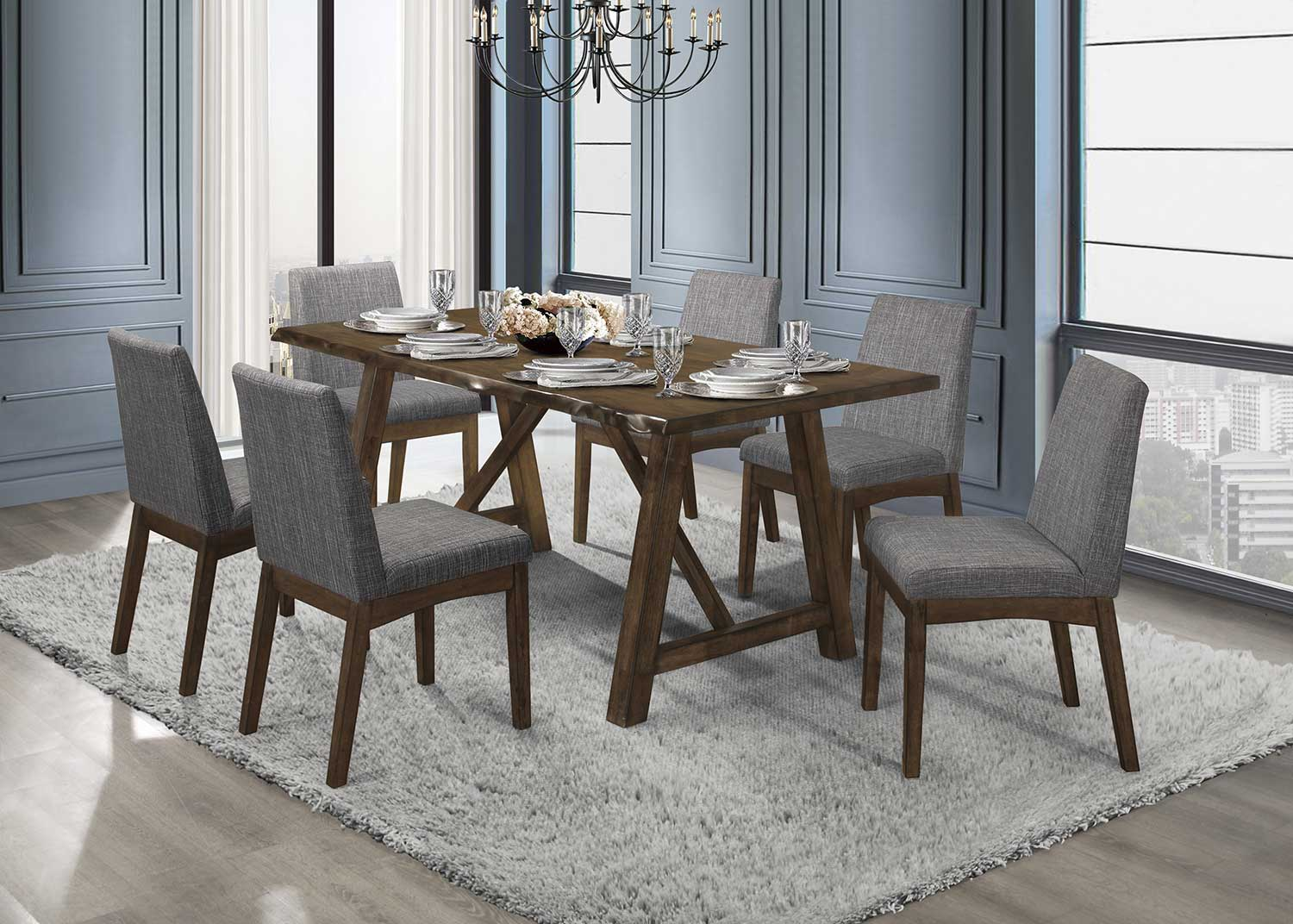Homelegance Whittaker Dining Set - Warm Brown and Black