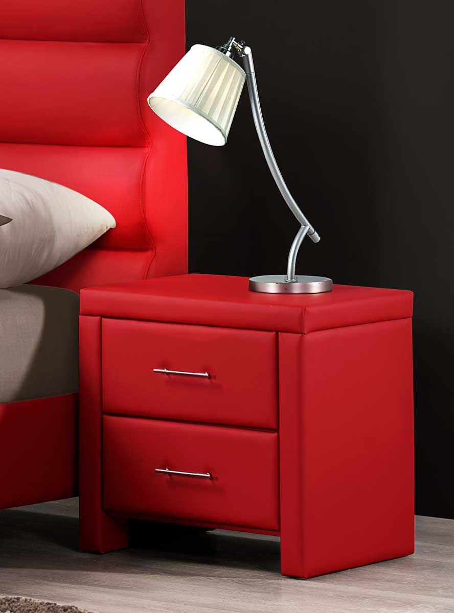 Homelegance Aven Night Stand - Red