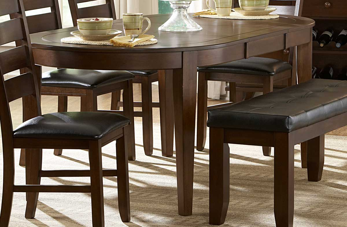 Homelegance Ameillia Oval Dining Table - Oval dinner table
