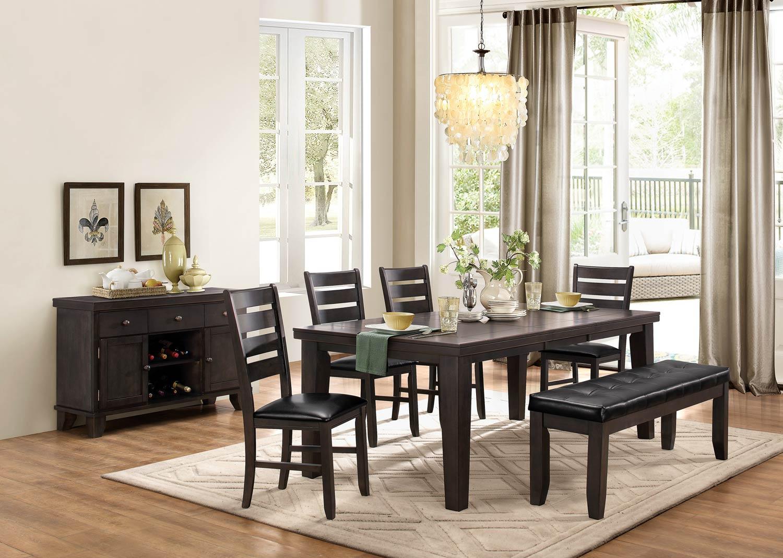 Homelegance Ameillia Dining Set - Grey/Brown