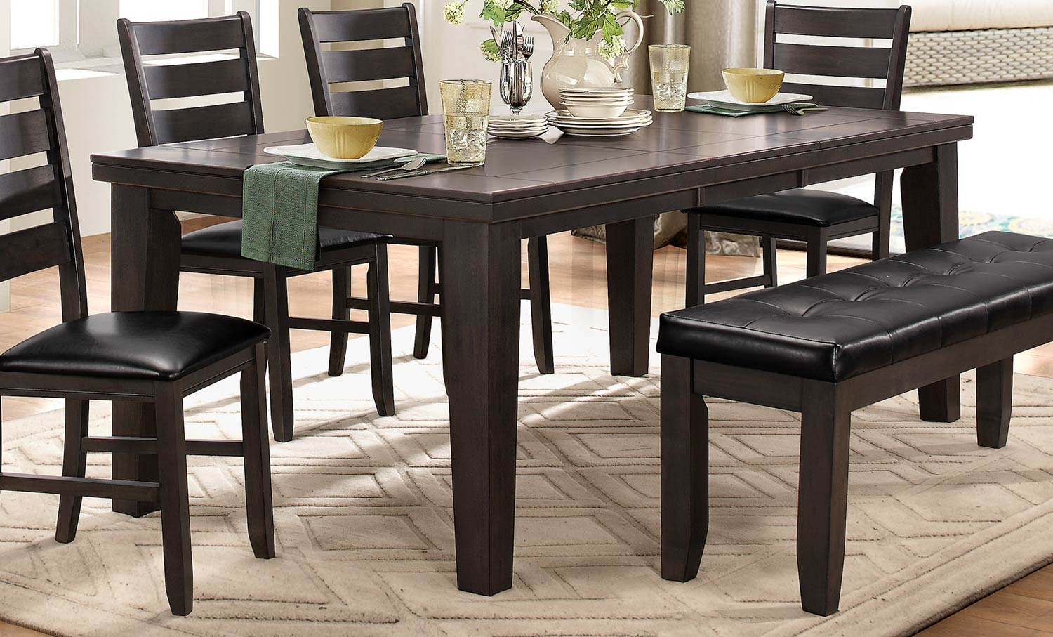 Homelegance Ameillia Dining Table - Grey/Brown