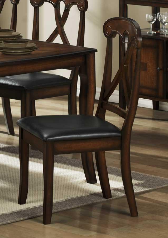 Homelegance Kinston Side Chair in Dark Brown Leatherette