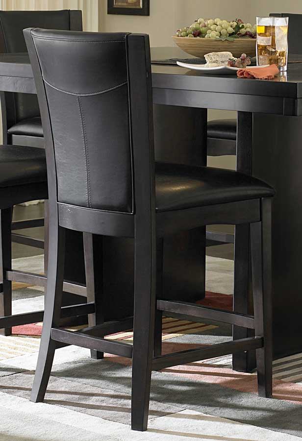 Homelegance Daisy Counter Height Chair in Dark Brown Leatherette