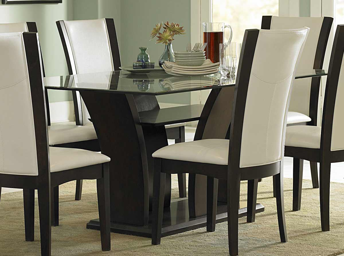 Homelegance Daisy Dining Table with Glass Top