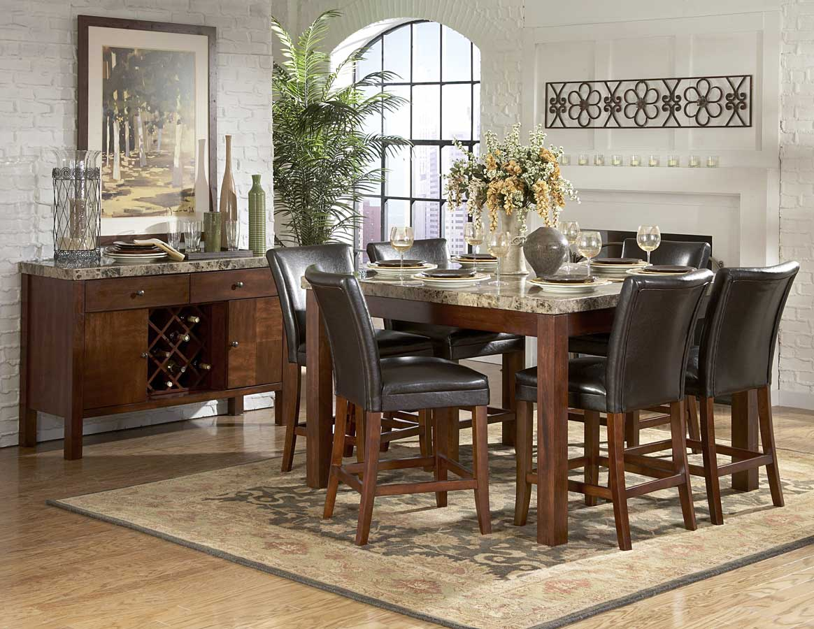 Homelegance Achillea Counter Height Dining Table Marble Top