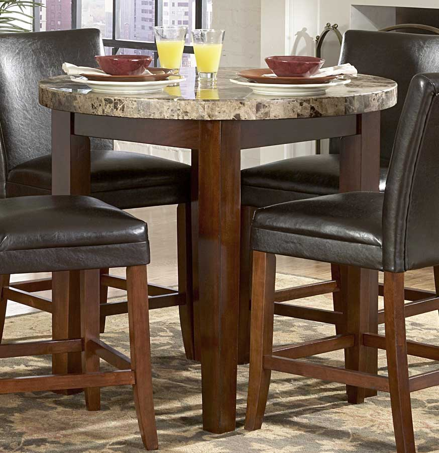 Homelegance Achillea Round Counter Height Dining Table Marble Top 721M