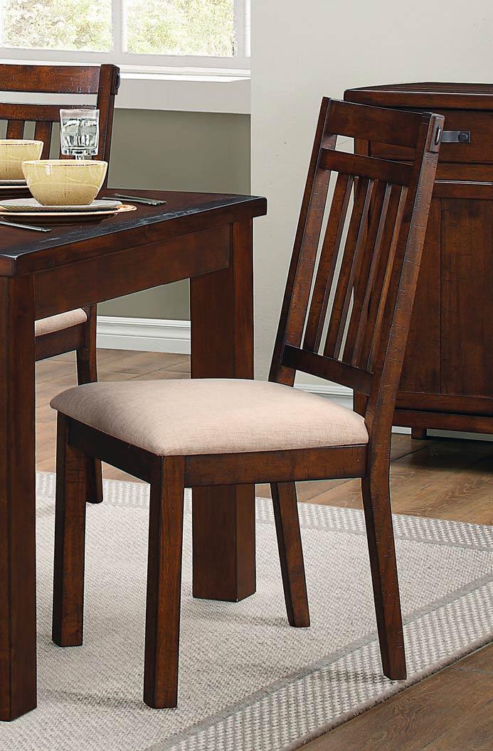 Homelegance Santos Side Chair - Natural Brown