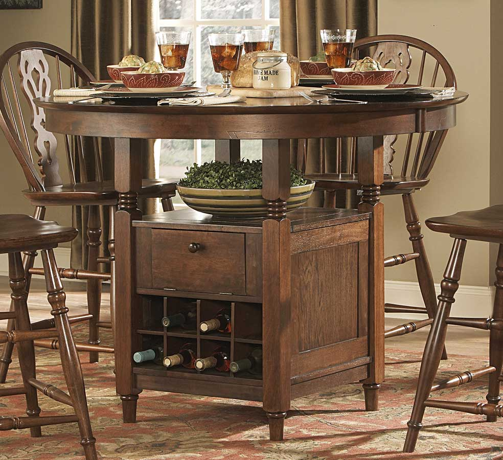 Homelegance hutto round counter height dining table 807rd for Tall dining table