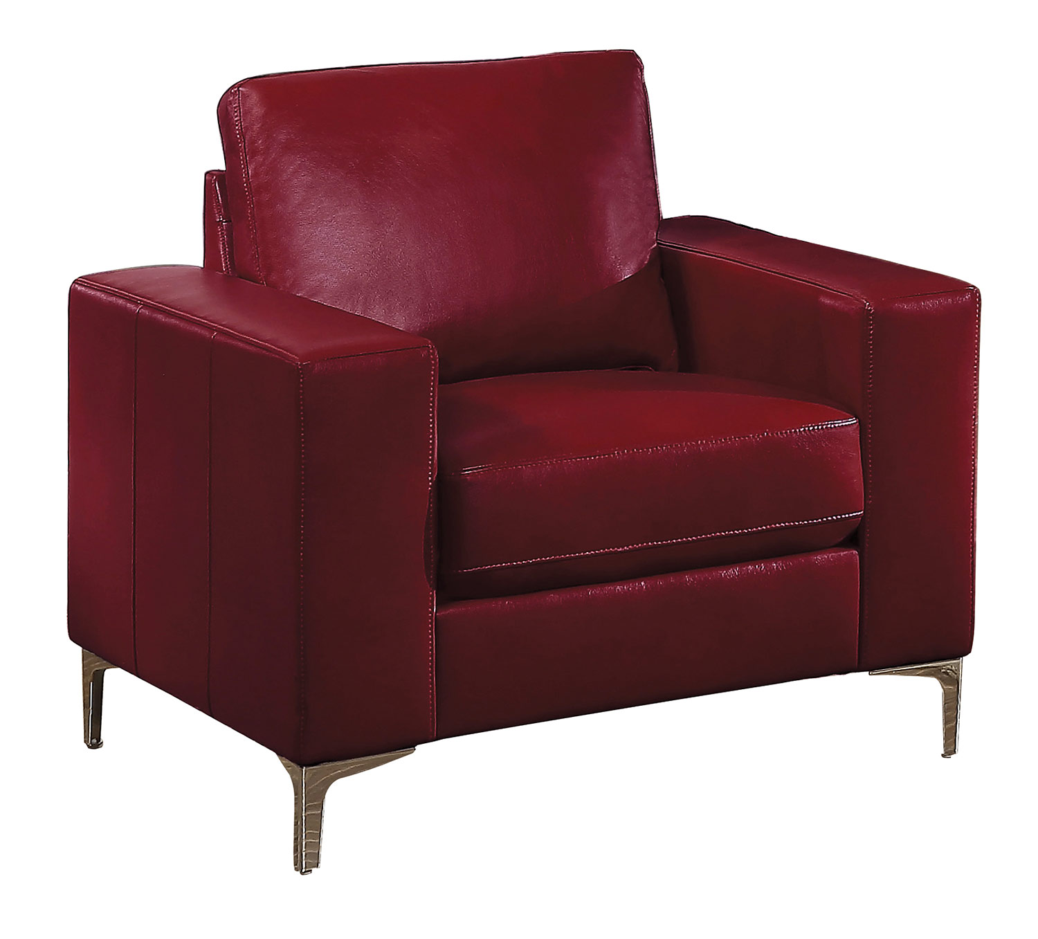 Homelegance Iniko Chair - Red Leather Gel Match